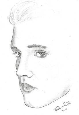 Steven White Drawing - Elvis by Steven White
