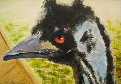 Elvis The Emu Art Print