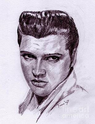 Drawing - Elvis by Toon De Zwart