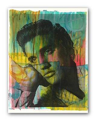 Mixed Media - Elvis V.1 by Dean Russo