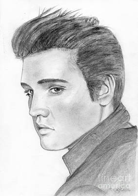 Drawing - Elvis by Veronica Rickard