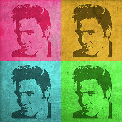 Elvis Presley Mixed Media - Elvis Vintage Pop Art by Design Turnpike