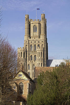 Photograph - Ely Cathedral West Tower by Tony Murtagh