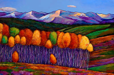 Aspen Tree Painting - Elysian by Johnathan Harris