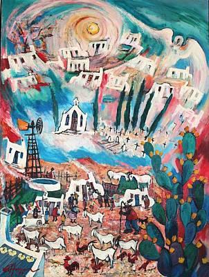 Karoo Painting - Elysium by Boet vanderHoven
