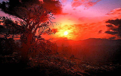 Painting - Elysium Sunset by Andrea Mazzocchetti