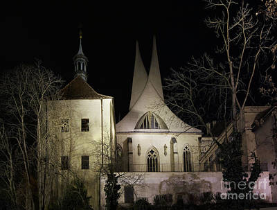 Photograph - Emauzy Monastery At Night by Michal Boubin