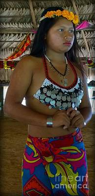 Photograph - Embera Indian Teen  by Jennifer E Doll