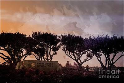 Mixed Media - Embarcadera San Diego by Bob Pardue