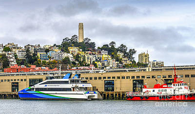 Photograph - Embarcadero Coit Tower by David Zanzinger