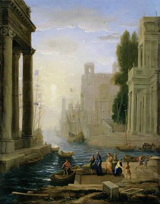 Wreckage Painting - Embarkation Of Saint Paula by Claude Lorrain