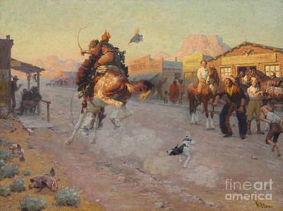 Old West Saloon Painting - Embarrassed by William Robinson Leigh