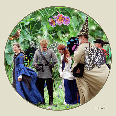 Digital Art - Embellished Photos Of Fairies by Lise Winne
