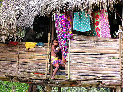 Food And Flowers Still Life - Embera girl 2 by Rollin Jewett