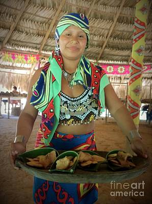 Photograph - Embera Indian Lady Serving A Meal by Jennifer E Doll