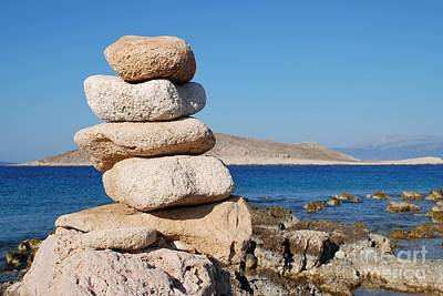 Modern Sophistication Beaches And Waves Royalty Free Images - Emborio stones on Halki Royalty-Free Image by David Fowler