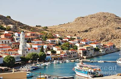 Emborio Village On Halki Art Print