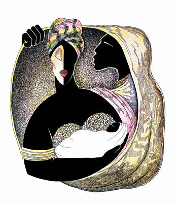 Embrace Art Print by Albert and Simone Fennell