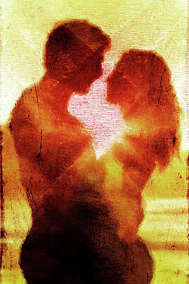 Yellow Digital Art - Embrace by Andrea Barbieri