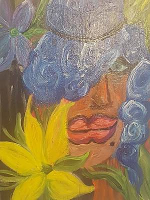 Blue Painting - Embrace Difference  by Jennifer Meckelvaney