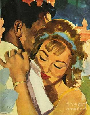 Sixties Painting - Embrace by English School