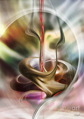 Digital Art - Embrace In Pastel by Johnny Hildingsson