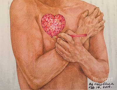Embrace Love Hand-drawn Art Print by Kent Chua