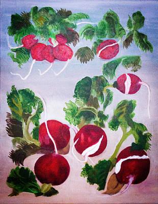 Radish Painting - Embrace The Radish by Fallon Franzen