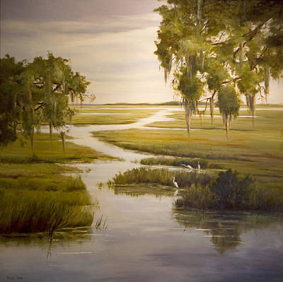 Marsh Scene Painting - Embrace The Solitude by Glenda Cason