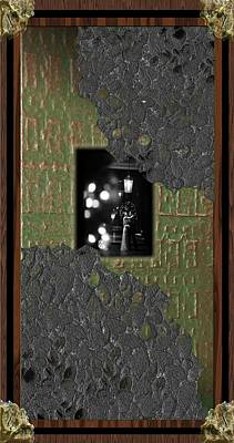 Digital Art - Embrace Through The Green Door by Michael Hurwitz