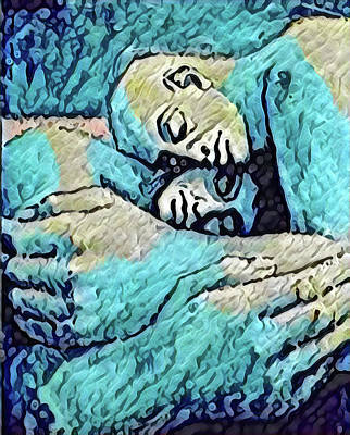 Digital Art - Embraced Couple by Gary Grayson