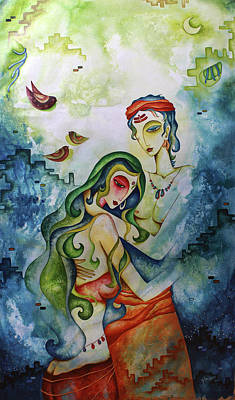 Painting - Embracing Love by Rohan Sandhir