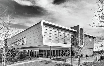 Embry Riddle University Hazy Library Art Print