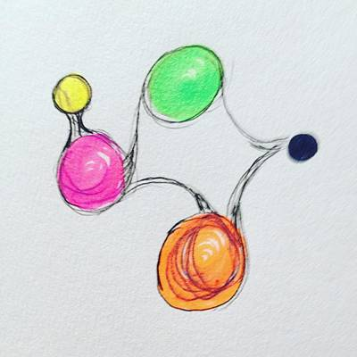Molecule Drawing - Embryonic by Roger Gregory