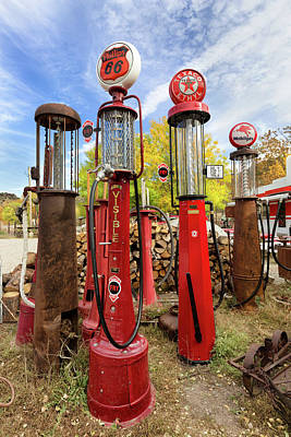 Photograph - Embudo Gas Pumps  by Kathleen Bishop