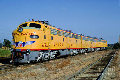 Photograph - Emd E9a 949, Union Pacific F-unit, Trainset, A-b-a by Wernher Krutein