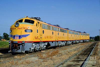 Photograph - Emd E9a 949, Union Pacific F-unit, Trainset, A-b-a by Wernher Krutein