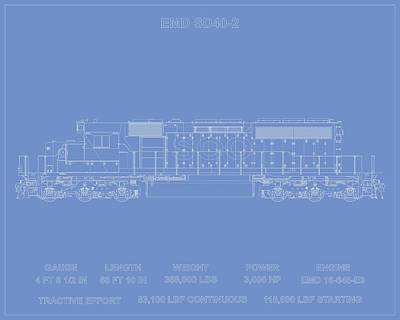 Emd Sd40-2 Soo  Art Print by Thomas Visintainer