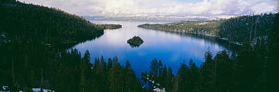 Emerald Bay Photograph - Emerald Bay At Lake Tahoe In Winter by Panoramic Images