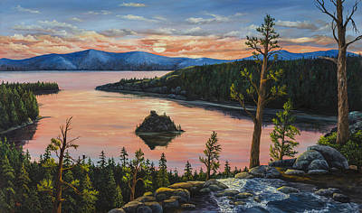 Painting - Emerald Bay by Darice Machel McGuire