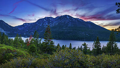 Photograph - Emerald Bay Dusk By Brad Scott by Brad Scott