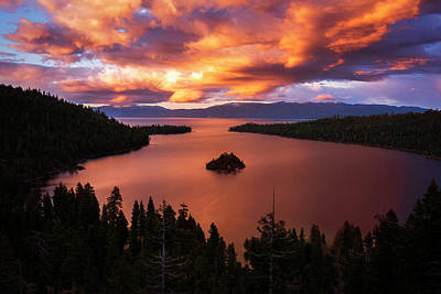 Photograph - Emerald Bay Fire by Brad Scott