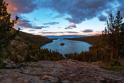 Photograph - Emerald Bay Granite By Brad Scott by Brad Scott