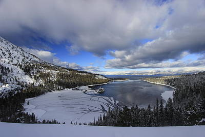 Photograph - Emerald Bay In Winter by Sean Sarsfield