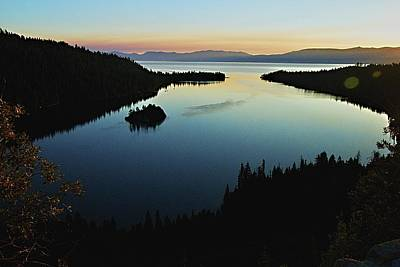 Photograph - Emerald Bay, Lake Tahoe, Dawn by Michael Courtney
