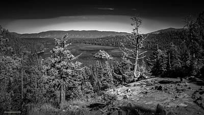 Photograph - Emerald Bay Lake Tahoe Monochrome by LeeAnn McLaneGoetz McLaneGoetzStudioLLCcom