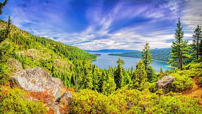 Photograph - Emerald Bay Lake Tahoe Panorama by LeeAnn McLaneGoetz McLaneGoetzStudioLLCcom