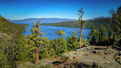 Photograph - Emerald Bay Lake Tahoe Top Of by LeeAnn McLaneGoetz McLaneGoetzStudioLLCcom