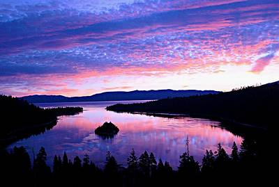 Photograph - Emerald Bay Pastel Sunrise by Sean Sarsfield
