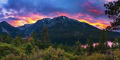 Photograph - Emerald Bay Secret Sunset Panorama By Brad Scott by Brad Scott